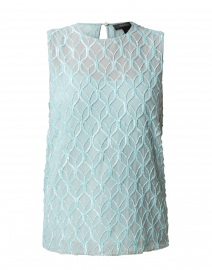 Nogara Water Blue Embellished Georgette Top