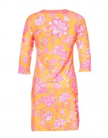 Gretchen Scott - Orange and Pink Floral Printed Jersey Dress