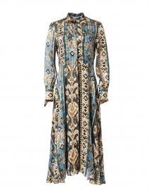 Multi Printed Satin Dress
