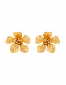 Classic Flower Button Pierced Earring