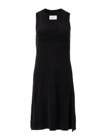 Veronica Black Bamboo Cotton Terry Dress
