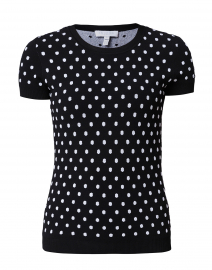 Salaria Polka Dot Knit Top