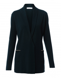 Teal Wool Silk Cashmere Cardigan