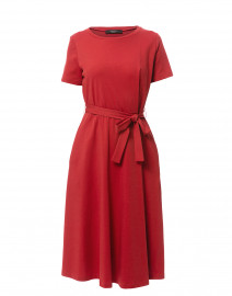 Alare Red Cotton Jersey Dress