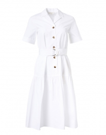 Orion White Cotton Shirt Dress