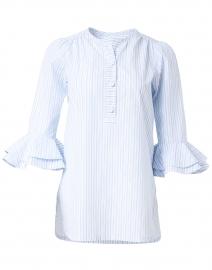 Wren Blue Variated Stripe Cotton Shirt