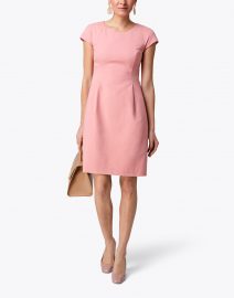 Pink Stretch Cotton Dress