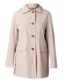 Sand Beige Collared Long Jacket