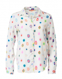 Gaby White and Multi Print Button Up Shirt