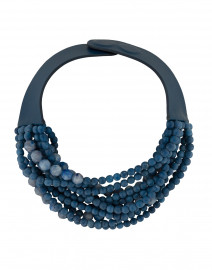 Marcella Denim Blue Beaded Necklace