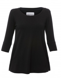 Black Cotton Bamboo Jersey Tunic