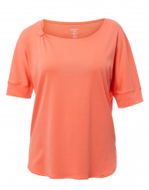 Coral Knot Stretch Cotton Top