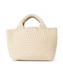 St. Barths Mini Solid Ecru Woven Handbag