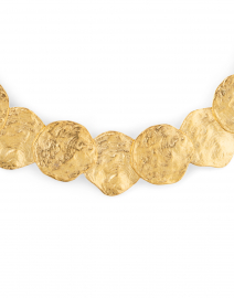 Kenneth Jay Lane - Satin Gold Disc Necklace