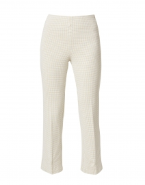 Prince Lime and White Check Stretch Cotton Pant