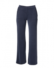 Navy Cupro Stretch Relaxed Pant