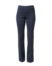 Berkeley Blue Check Bootcut Pull On Pant