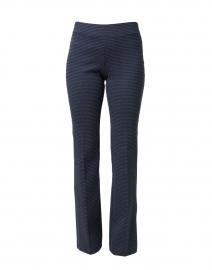 Ecru - Berkeley Blue Check Bootcut Pull On Pant