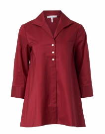 Betty Burgundy Button Down Stretch Cotton Shirt