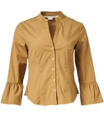 Bab Khaki Beige Stretch Cotton Shirt