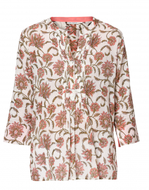 Arles Pink Vine Floral Cotton Shirt