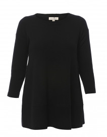 Saint Tropez Black Cashmere Swing Sweater