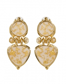 Colorado Gold Drop Clip Earring
