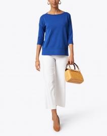 Kinross - Royal Blue Easy Rib Cotton Sweater