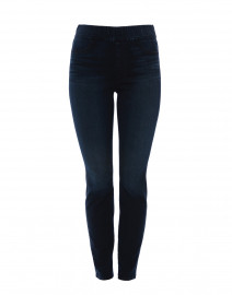 Riche Touch Blue-Black Skinny Pull On Denim Jean
