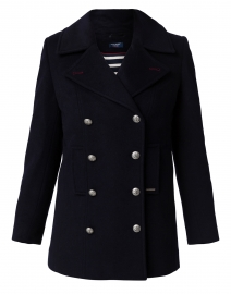 Briac Navy Wool Peacoat