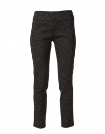 Black and Grey Animal Print Stretch Pull On Pant