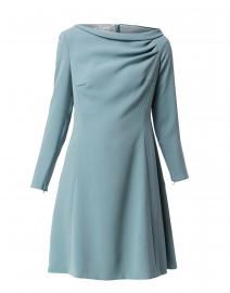 Sage Blue Ruched Neck Dress