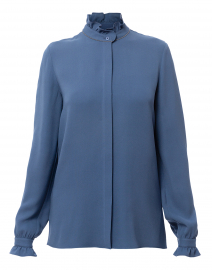 Kelly Periwinkle Silk Georgette Blouse