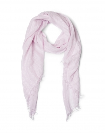 Light Pink Lurex Linen Scarf
