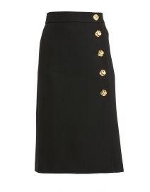 Remma Black Wool Skirt