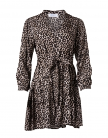Parker Grey Leopard Print Dress