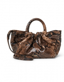 Mini Los Angeles Brown Snake Effect Bag