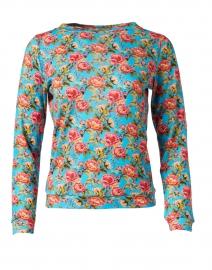 Blue Rose Floral Cotton Modal Sweater