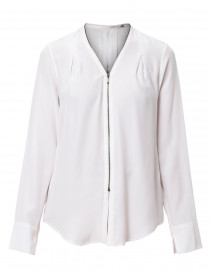 Quorgan White Silk Blouse