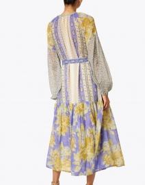D'Ascoli - Irina Periwinkle Floral Cotton Voile Dress