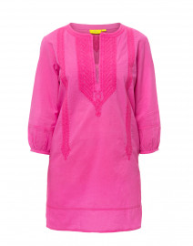 Tangier Ibis Pink Embroidered Cotton Kurta Top