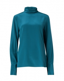 Biva Teal Silk Blouse
