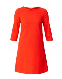Lola Clementine Orange Wool Crepe Dress