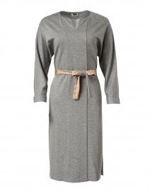 Grey Stretch Wool Jersey Dress