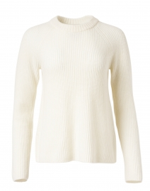Off White Cashmere Shaker Sweater