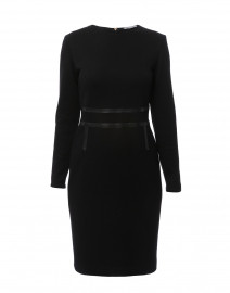 Xeno Black Wool Jersey Dress