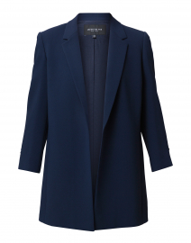 Cole Blue Ruched Sleeve Jacket