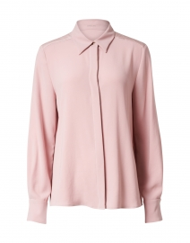Rose Pink Satin Button Down Shirt