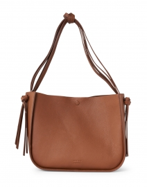 Marine Cognac Pebbled Leather Tote Bag