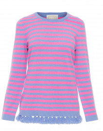 Blue and Pink Striped Wool Cashmere Sweater